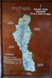Map of Inle Lake with Nyaung Shwe at the north end