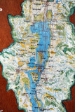 Map of the northern half of Inle Lake