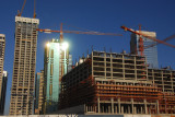 DIFC construction and Sheikh Zayed Road towers
