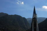 Ultramodern crystal cathedral-style spire of the Caldea, Andorra la Vella