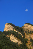 Pyrenees with moon, Andorra
