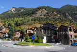 Erts, Andorra, roundabout junction for Arinsal and Pal