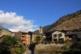 The quaint Andorran village of Ordino on the road to Arcalis