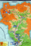 Map of Ordino-Arcalis, NW Andorra