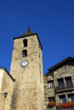 Medieval church on Ordino's town square