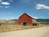 Red barn, Madison Valley, Montana