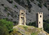 Medieval towers, Carol, Pyrénées Orientales