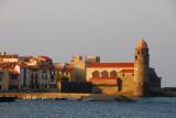 Collioure, Plage Boramar, Notre-Dame des Anges