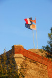 Flags of France and Catalonia, Collioure