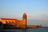 Dusk, Église de Notre-Dame des Anges, Collioure