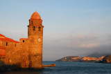 Dusk, Church of Notre-Dame des Angles, Collioure