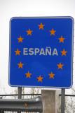 EU border sign - España
