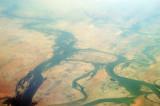 Niger Inland Delta (Macina), Mali, looking northeast with Tindirma and Banikane at the bottom of the frame