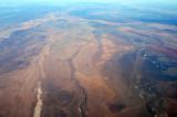 Looking east from overhead Illizi, Algeria