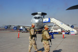 USAF personnel guarding an AWACS E-3, USAF 552 Air Control Wing