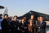 DAE University group with the F-117, Dubai Airshow 2007