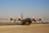 Royal Jordanian Air Force C-130 on the ramp at the Dubai Airshow 2007