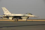 UAE Air Force F-16 taxiing at Dubai (reg 3078)