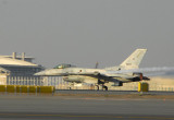 UAE Air Force F-16 take-off on 30L at Dubai