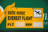Each morning, several of Nepal's domestic airlines operate scenic mountain flights from KTM to Mt. Everest