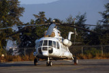 Mi-8 Helicopter with UN markings and Russian registration, Kathmandu, Nepal