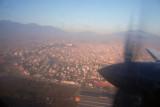 Departing Kathmandu Tribhuvan International Airport to the south