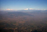 View NW from Kathmandu to Ganesh Himal (left) 7405m/24,294 ft)