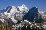 Melungtse (7181m/23,560ft) with Kang Nachugo (6735m), Nepal Himalaya