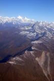Looking NW along the Lapchi Kang Range (27 51 58N/86 10 13E) towards Shisha Pangma, Tibet