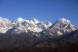 Shisha Pangma (8013m/26,289ft) with Phurbo Chyachu (6637m) right