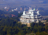 Monastery under construction on a hilltop NE of Kathmandu, Nepal (N27 44 39.38/E085 22 05.12)