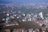 On final approach to Kathmandu, landing south