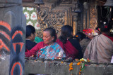 Women making temple offerings, Bhaktapur