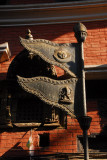Metal banners in the form of the Nepali flag, Jaya Varahi Temple, Bhaktapur