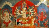Shiva accompanied by Parvati, Ganesh & Kumar, 18th Century