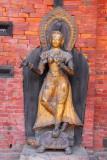River goddess Ganga, Mul Chowk, Royal Palace, Patan