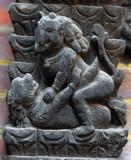 Erotic Elephants Temple next to Shiva Parvati Temple, Bhaktapur