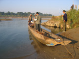 Canoes for the Rapti River paddle from Sauraha