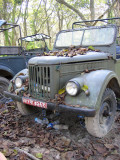 Old Russian military truck used for jeep safaris, Chitwan