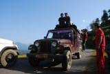 Another Jeep heading from Bandipur downhill to Dumre