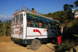 A school bus full of Nepali kids from the Terai on a fieldtrip stopped and gave me a lift