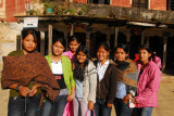 Girls from the school group, Bandipur