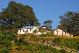My little guesthouse is up that hill past the school