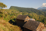 Stone houses on the edge of town, Bandipur
