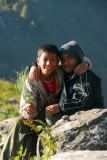 Two Nepali boys, Gurungche Hill, Bandipur