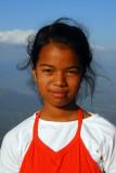 Portrait, Nepali girl, Bandipur