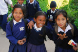 Students from Notre Dame School, Bandipur