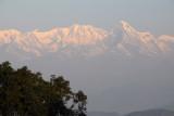 The Annapurna Range and Machhapuchhare (near Pokhara) seen from Bandipur