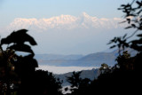 Machhapuchhare and fog covered valleys, from Bandipur