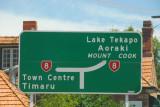 New Zealand Route 8 from Timaru to Lake Tekapo